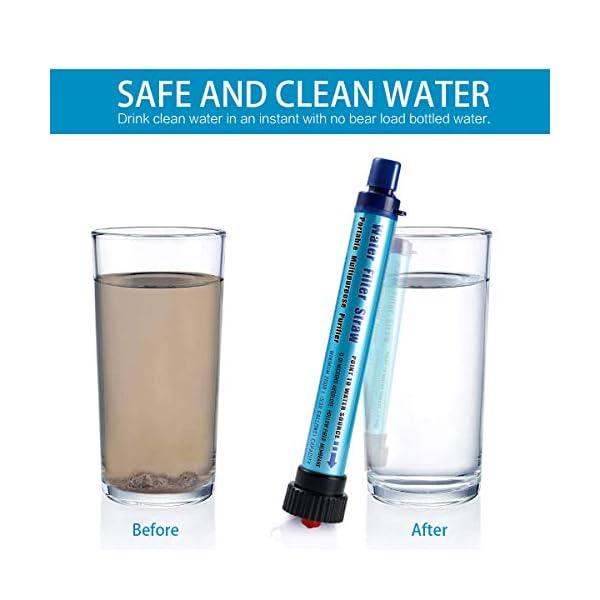 414%2BGc8rSFL Vintoney Wasserfilter Camping Outdoor 2000L Personal Mini Tragbarer wasserfilter trinkwasser für Outdoor unterwegs…