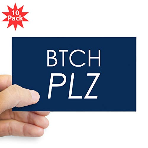 (Sticker (Rectangle) (10 Pack) Btch Plz Bitch Please Haute Couture)