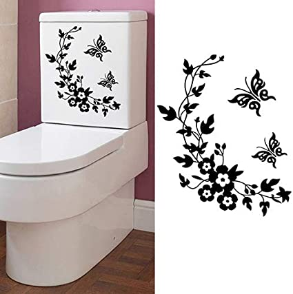 The Best Seat  In The House Quote Toilet Bathroom Stickers Funny Toilet Decals b