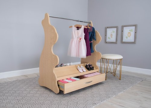Ace Baby Furniture Rabbit Mobile Dress-Up Clothes and Shoe Organizer, Natural Maple -