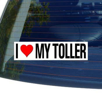 I Love Heart My TOLLER - NOVA SCOTIA DUCK TOLLING RETRIEVER - Dog Breed - Window Bumper Sticker (Heart Scotia Duck Nova)
