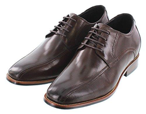 CALTO Zapatos de Cordones de Piel Para Hombre