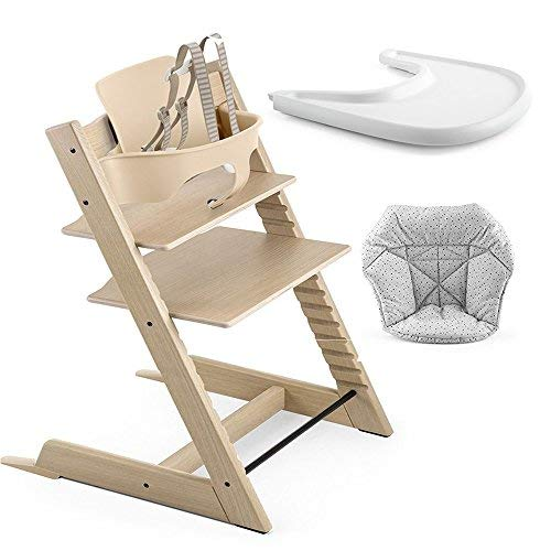 Amazon.com : Stokke Tripp Trapp High Chair, Baby Set - Oak ...