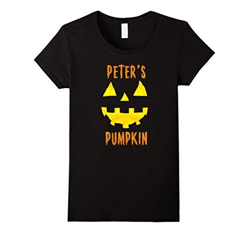 Womens Couples Halloween Costume Ideas Peter's Pumpkin T-Shirt XL Black - 100 Costume Ideas Couples