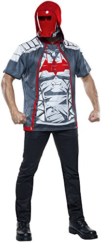Rubie's Men's Arkham Knight Red Hood Costume Top, Multi, Small