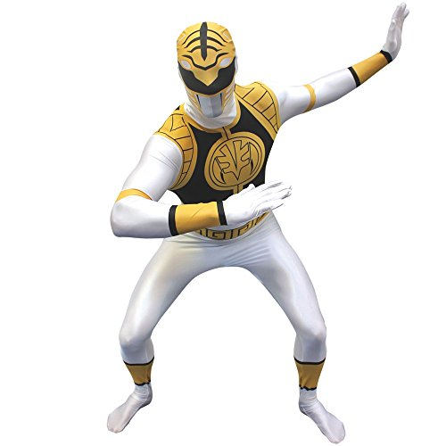 Morphsuits Men's Morphsuit Power Ranger, White, Small (Morph Suit Sizing)