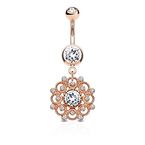 Gold Dangling Belly Ring - 6