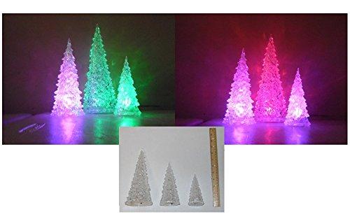 Two christmas tree ornaments acrylic light up snowmen
