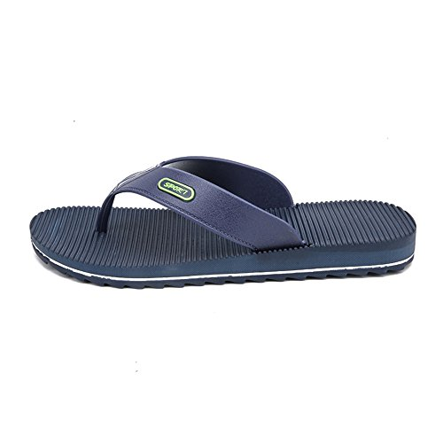 Dimensione 42 Anti flop Blu uomo Stripes skid da spiaggia Sandali Outdoor da Wind uomo Scarpe Casual Jiuyue da Flip EU shoes all'usura Nero Color resistenti New AqxgBg