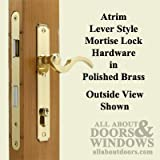 Atrium Door: Lock Hardware Set - Polished Brass