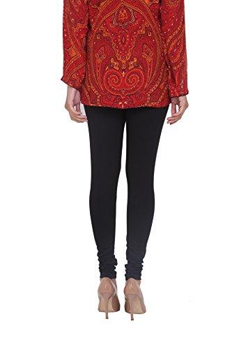 In-Sattva Women's Indian Solid Color Leggings; Black; Medium