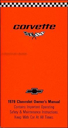 1979 Corvette Owner's Manual Reprint