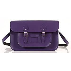 Remarkable 15 inch Recycled Leather Satchel - Purple by Remarkable