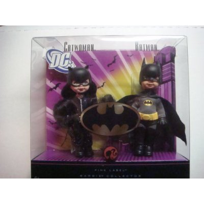 DC Comics Barbie Catwoman & Batman Miniature Crafted Replica Dolls