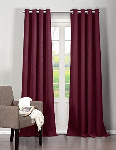 in Pair Panel Window Draperies (Assorted Colors) 40 by 84 Inch, 2 Pieces, Insulating Room Darkening Blackout Drapes for your room - Mustard Yellow (40 X 84 INCHES, Raspberry) (Raspberry Room)