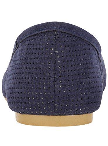 in Donna Sintetico 7900n Fiocco Blu Ballerine Collection Camoscio oodji con qtpgBw