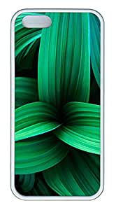 iPhone 5s Cases & Covers -Green Plant Leaves TPU Custom Soft Case Cover Protector for iPhone 5s - White