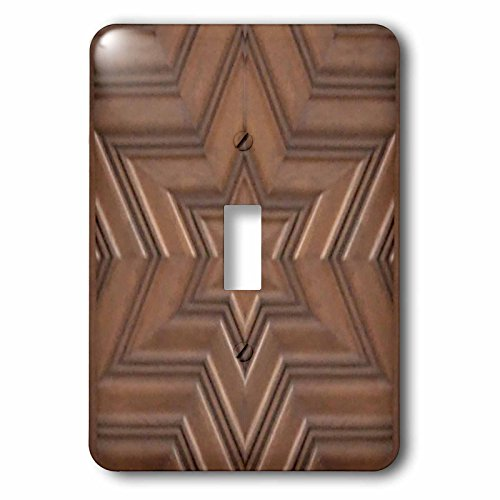 3dRose lsp_155683_1  Magen David Stars Photo Print of Wood Carving Brown Wooden Jew Symbol Judaism Jewish Gifts Single Toggle Switch -