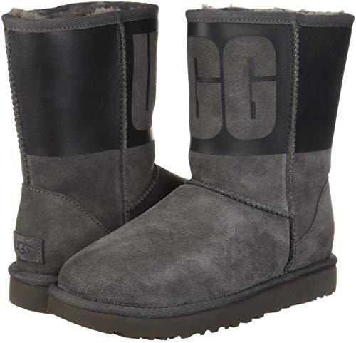 1096473w Ugg Short Black Gris W Rubber noir Classic xzzXfrR