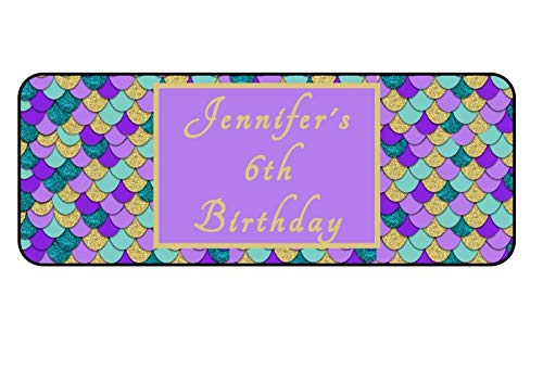 30 Personalized Mermaid Birthday Party Favor Bubble Labels