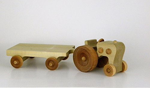 MONTHLY SPECIAL Heirloom Quality Wooden Farm Tractor and Hay Wagon, in stock, will ship 1-2 days by - Shops In Sale Uk For