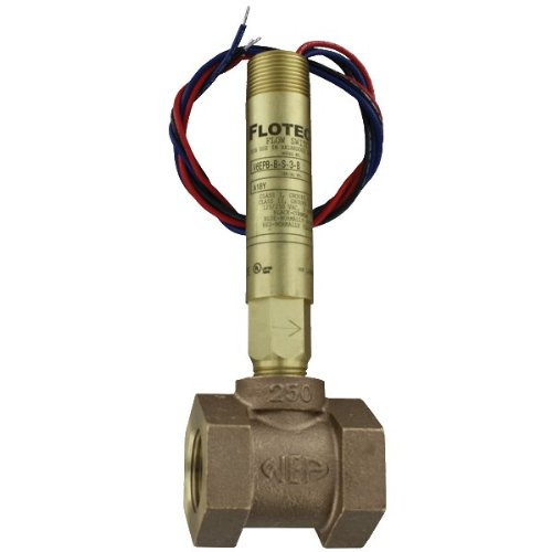 W.E. Anderson Flotect Mini Size Flow Switch, V6EPB-B-D-4-B, Brass, 1-1/4'' NPT, DPDT