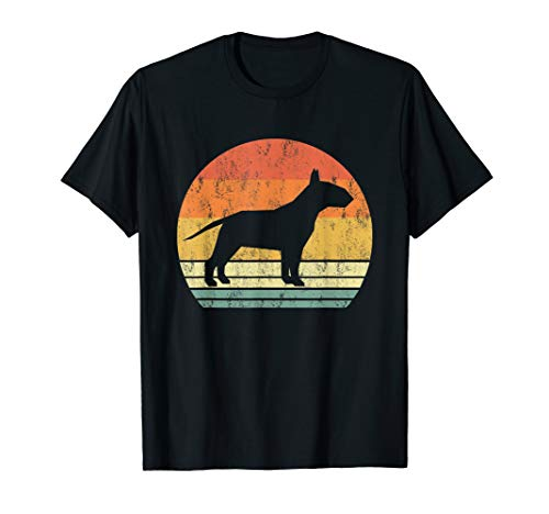 Bull Terrier Dog Shirt Retro Vintage 70S Silhouette Breed Gi