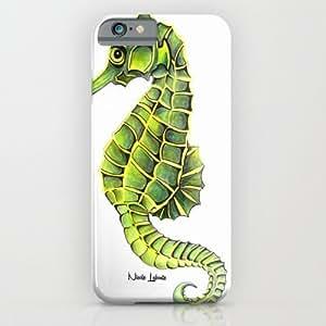 Society6 - Sea Horse Green Yellow Sea Life Ocean Underwater C¡ iPhone 6 Case by Treelovergirl