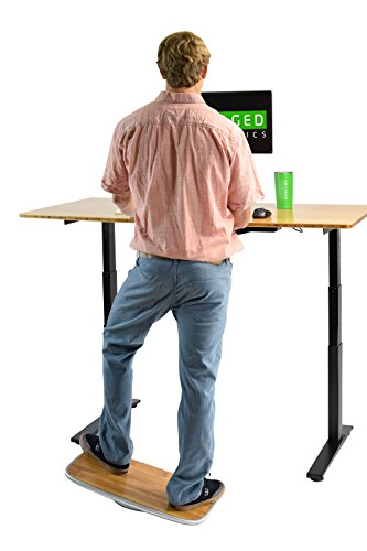 BASE Balance & Stability Board. Active Standing Desk Wobble Platform Trainer for Home, Office, Rehab, Fitness. Full Range of Motion. Patented by Uncaged Ergonomics (Image #7)