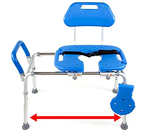 HydroGlyde Premium Heavy Duty Sliding Bathtub Transfer Bench and Showe