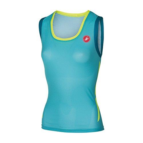 Castelli ALII Run Jersey - Sleeveless - Women's Pastel Blue/Caribbean, L