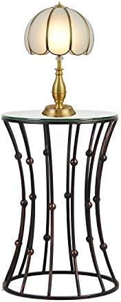 Adeco Drum Shape Metal Nesting Table