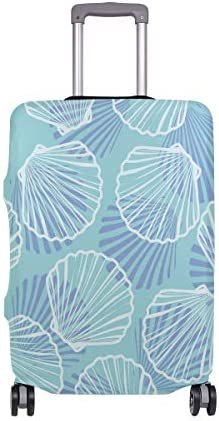 (ソレソレ)スーツケースカバー 防水 伸縮素材 キャリーカバー ラゲッジカバー 美人魚 魚柄 ブルー かわいい 可愛い 可愛い おしゃれ 防塵 旅行 出張 便利 S M L XLサイズ