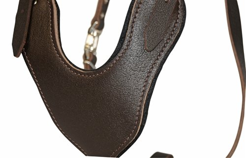 Dean and Tyler Leather Basic Nickel Hardware Dog Harness with Handle, Brown, Large - Fits Girth Size: 31-Inch to 41-Inch by Dean & Tyler (Image #1)