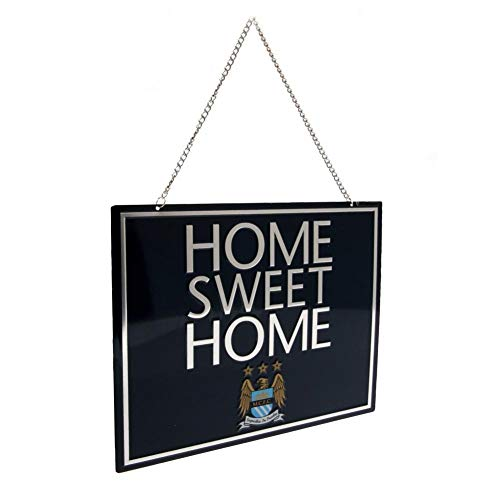 Manchester City FC Official EC Home Sweet Home Sign (One Size) (Navy)