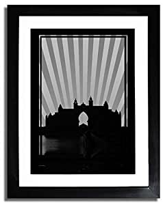 Atlantis - Black And White No Text F07-m (a2) - Framed