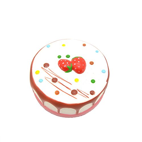 1PCS Jumbo Squishy Round Cake Cream Strawberry (Chocolate Snowglobe)