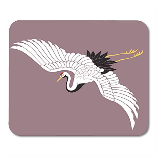 Semtomn Gaming Mouse Pad Red Bird Japanese White Crane for sale  Delivered anywhere in USA