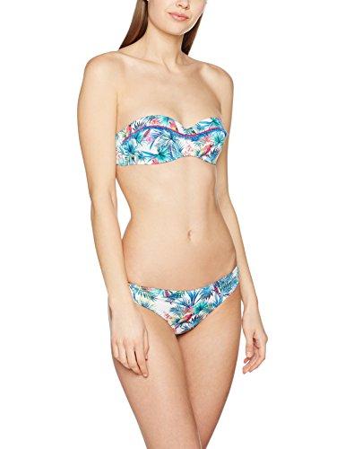 Kiwi Saint Tropez Haut Emma Plus Perroqu, Bikini para Mujer Blanc(Blanc Blanc)