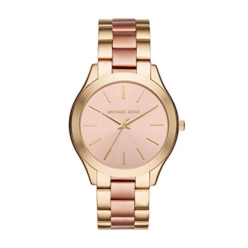 🥇 Michael Kors Reloj analogico para Mujer de Cuarzo con Correa en Acero Inoxidable MK3493