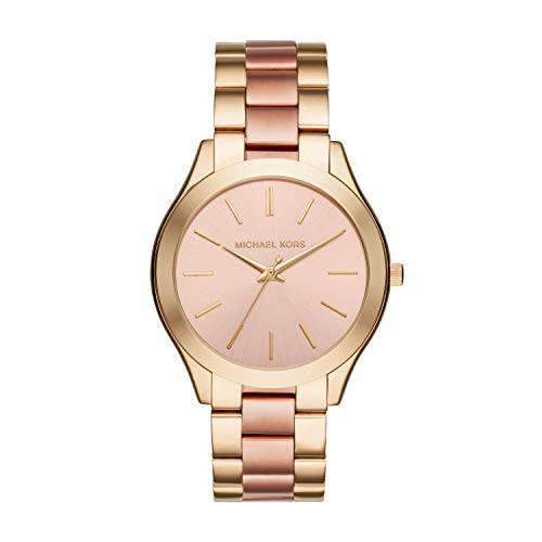 Michael Kors Women's Slim Runway Gold-Tone Watch ()