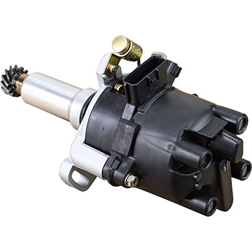 AIP Electronics Heavy Duty Stock Series Complete Electronic Ignition Distributor Compatible Replacement For 1994-1998 Nissan 240sx 2.4L KA24DE From 02/94 Oem Fit D70F10-SS