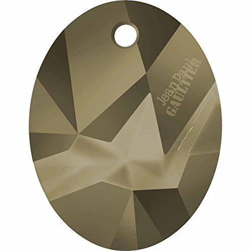 6910 Swarovski Pendant Kaputt Oval - Signed Designer Edition | Crystal Metallic Light Gold | 26mm - Pack of 1 | Small & Wholesale Packs | Free Delivery - Light Signed