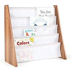 Brave Dot Kids Pocket Sling Bookshelf (Cedar/White)