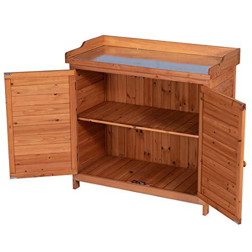 CHEAP GOOD LIFE Outdoor Garden Patio Wooden Storage