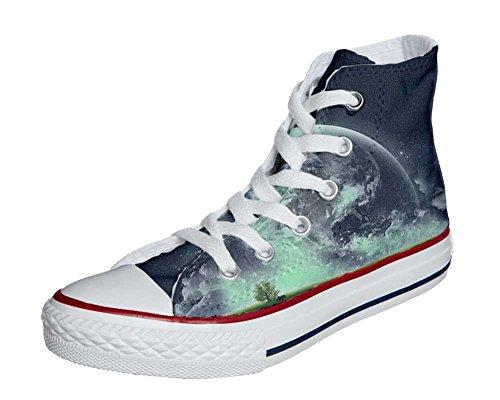 Converse All Star zapatos personalizados Unisex (Producto Artesano) con el mundo