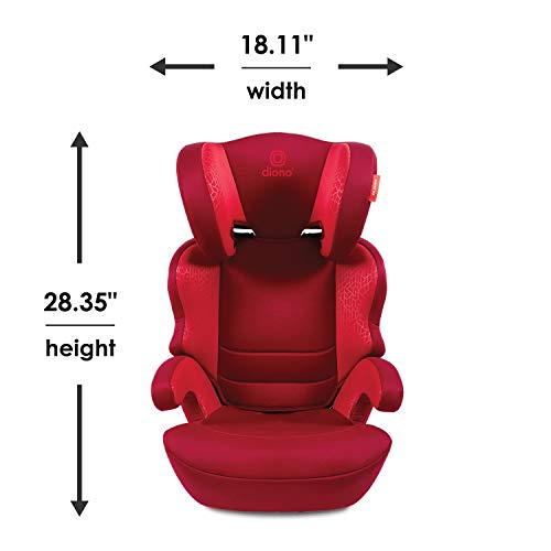 414%2BQESLwlL - Diono Everett NXT Ridgid Latch, Belt Positioning Booster Seat, High Back Booster, Lightweight Slim Fit Design, 8 Years 1 Booster Seat, Blue