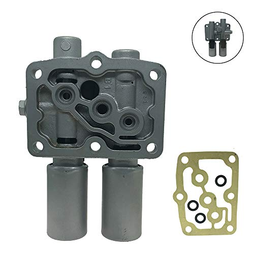 Prelude Cl Accord - Transmission Dual Linear Solenoid with 1PCS Gasket and 3PCS O-Rings for Honda Accord Odyssey Acura CL TL MDX Pilot Prelude Replace OE# 28250-P6H-024 28250P6H024