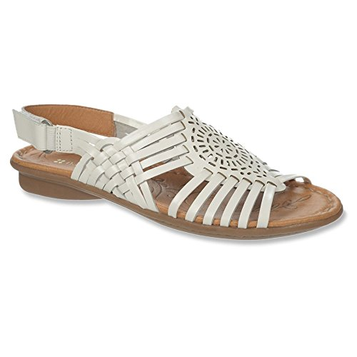 cheap best prices Naturalizer Women's Wendy Huarache Sandal White Leather cheap sale view buy cheap footaction clearance pay with paypal largest supplier cheap price KGCe0IMO