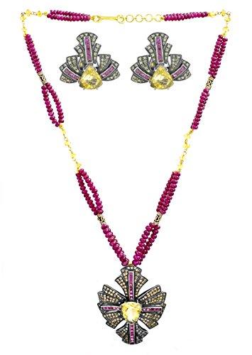 Citrine Gold Tourmaline Necklace - 2